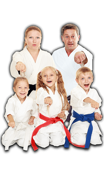Martial Arts Lessons for Families in _Naugatuck_ CT - Sitting Group Family Banner
