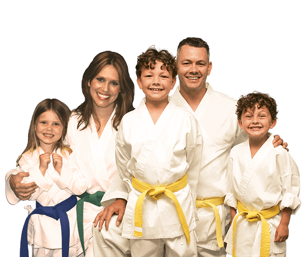 Martial Arts Lessons for Families in _Naugatuck_ CT - Group Family for Martial Arts Footer Banner