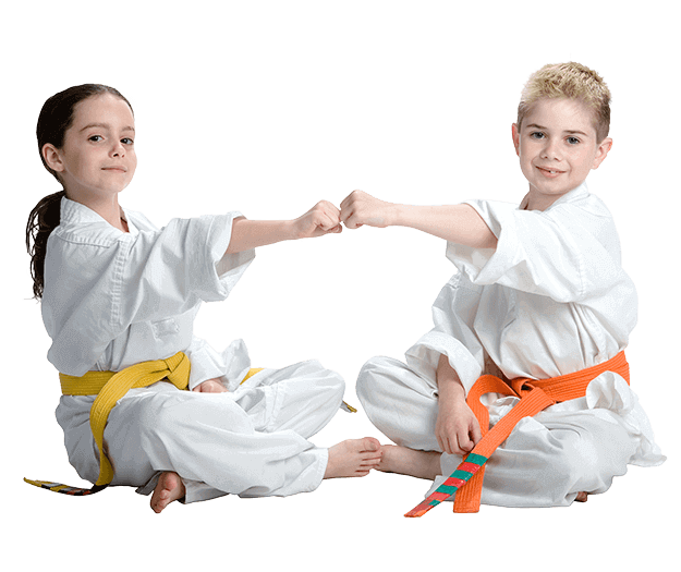 Martial Arts Lessons for Kids in _Naugatuck_ CT - Kids Greeting Happy Footer Banner