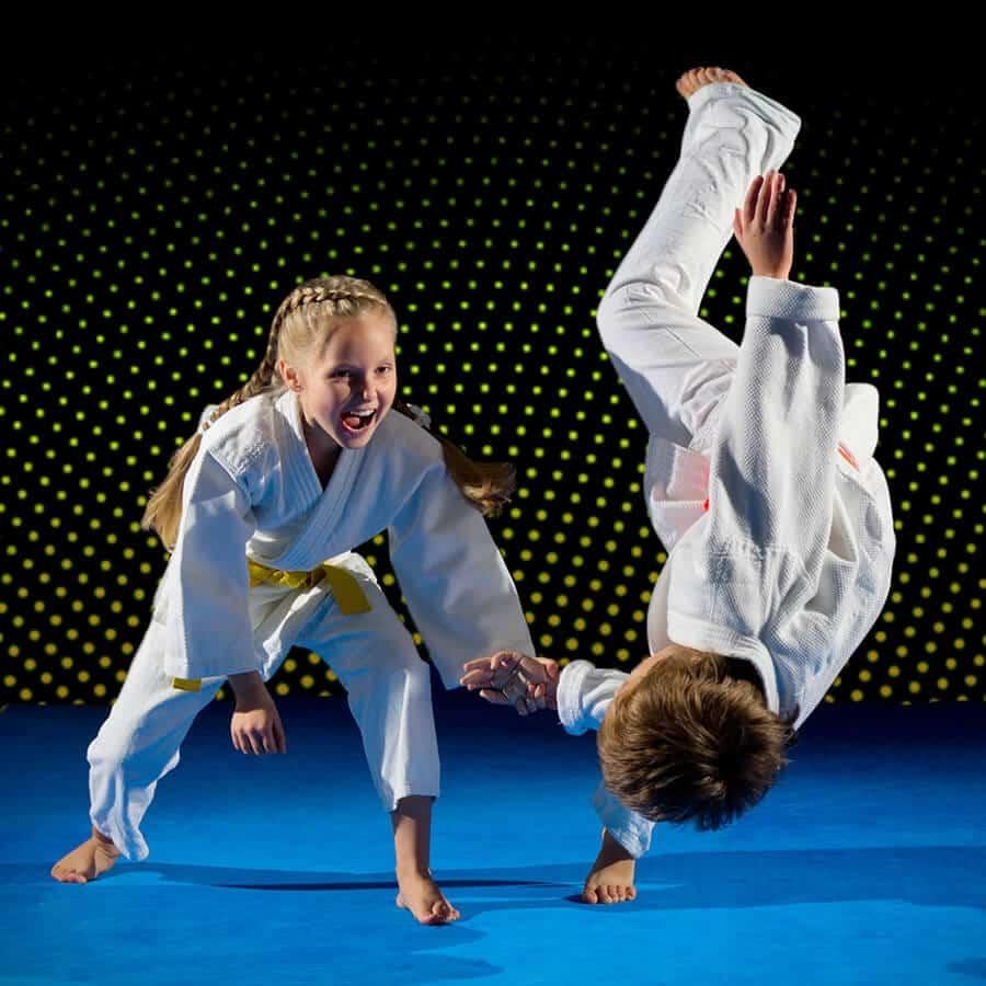 Martial Arts Lessons for Kids in _Naugatuck_ CT - Judo Toss Kids Girl