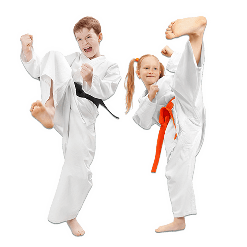 Martial Arts Lessons for Kids in _Naugatuck_ CT - Kicks High Kicking Together