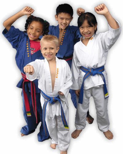 Martial Arts Summer Camp for Kids in _Naugatuck_ CT - Happy Group of Kids Banner Summer Camp Page
